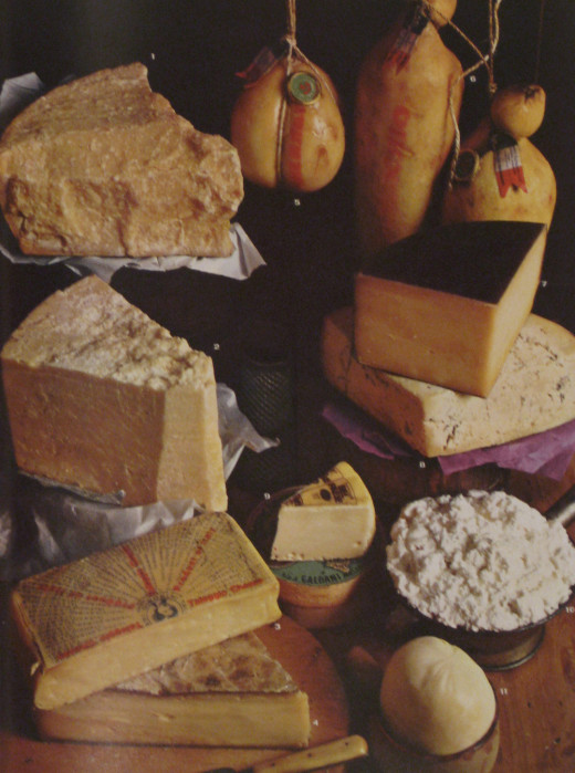 Selection of Italian cheeses