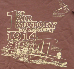 This t-shirt shows the story of the first air victory, and why it happened on the ground.