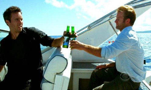 "Alex OLaughlin and James Caan, stars of ""Hawaii Five-O,"" drink beer but drive when they are needed."