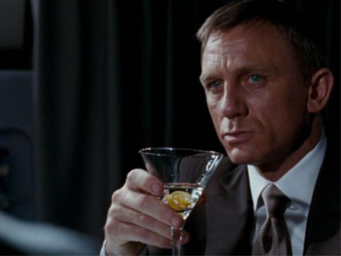 "Daniel Craig loves his martini's while working as ""James Bond 007."""