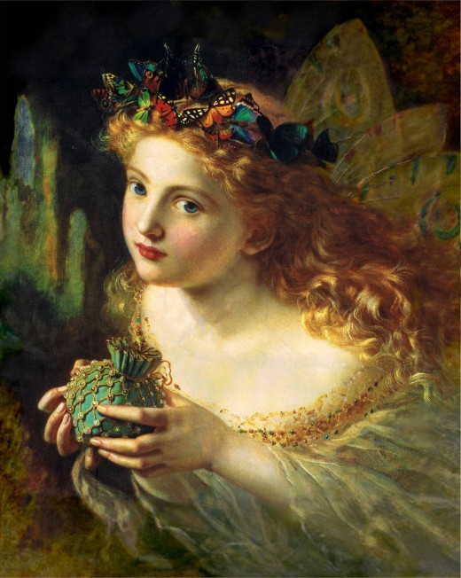 Fairies were romanticized in the Victorian Era...in earlier times they weren't so pretty and dainty.