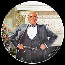 a depiction of Daddy Warbucks from Annie.
