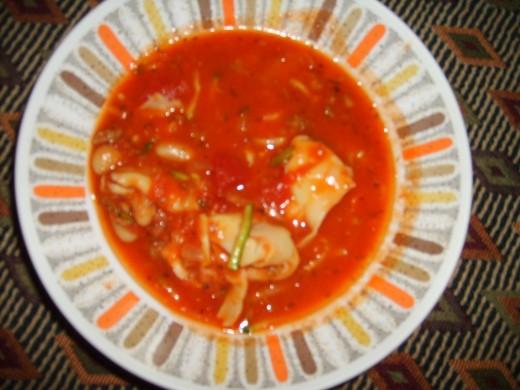 Italian Soup in Serving Bowl