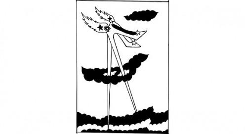 Original logo design for le CLUB DES TALONS HAUTS, Cirque du Soleil's parent company, by Josée Bélanger.