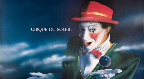 1986 A poster for Cirque's show, LA MAGIE CONTINUE.