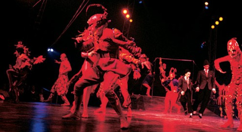 1990 The new look: Cirque du Soleil, in costumes designed by Dominique Lemieux, takes the stage. Photo: Jean-François Leblanc
