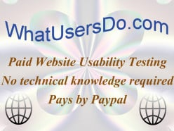 Paid Website Usability Testing with WhatUsersDo