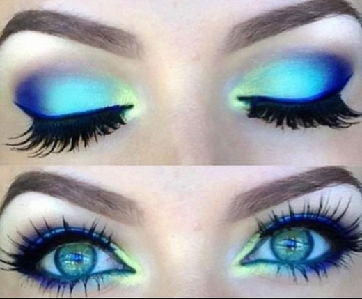 This  eye make up is allowed for an outdoor event