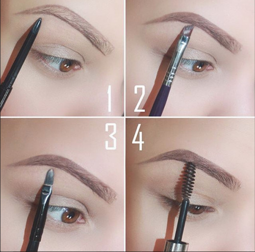 Step by step tutorial for drawing brows
