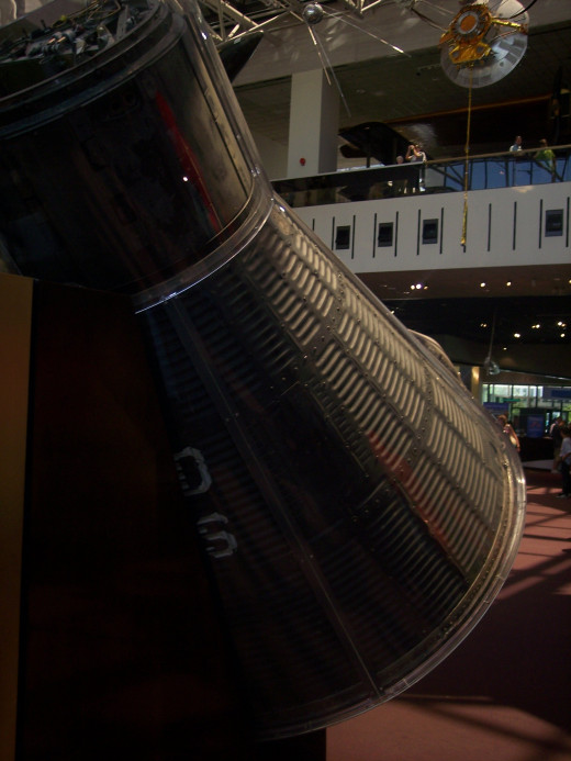 The Friendship 7 capsule that John Glenn used to orbit the Earth in displayed in the National Air and Space Museum.