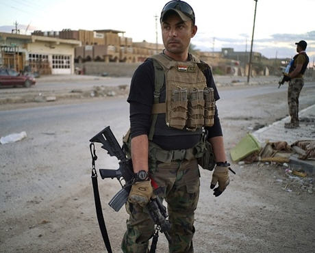 A member of Iraq's security forces