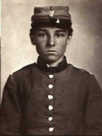 A constant in the American military, soldiers were not highborn or defined by class, but came from average citizens like this boy who fought during the Civil War.  How old do you think he is?