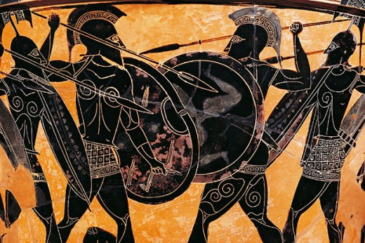 The Spartans,consdiered the best foot soldiers in ancient Greece, were also a different social class and not considered average Greek citizens.  Some legends even suggest that their linage descends from Hercules.