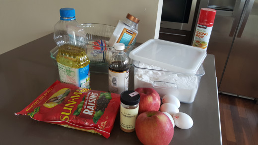All the ingredients to prepare this culinary delight.