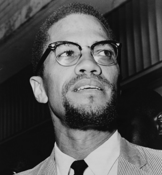 Malcolm X and his famous goatee.