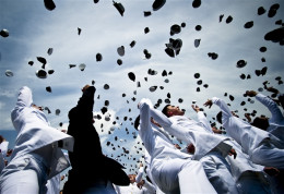 Wow! The air is full of mortar boards.