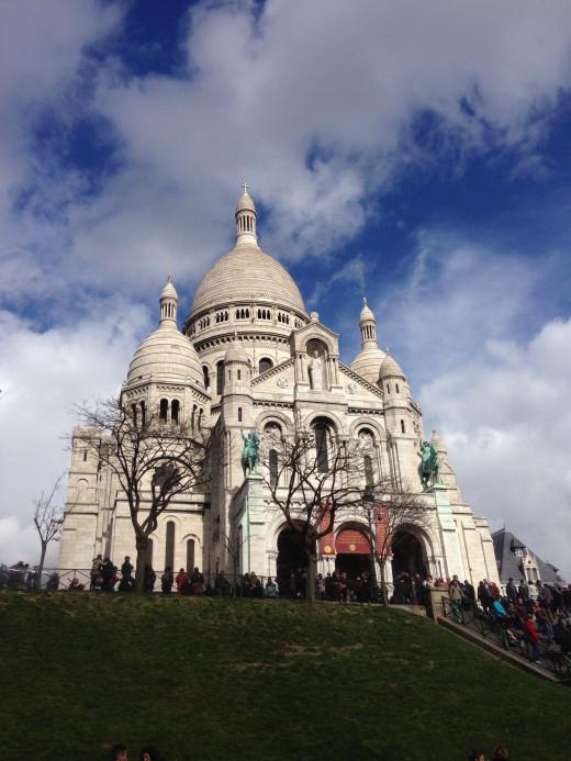 Beautiful Basilique du Sacré Cœur at mid day in Paris.