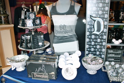 A merchandise display in Main Street USA.