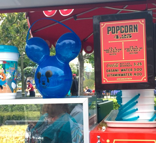 The Mickey balloon inspired popcorn bucket.