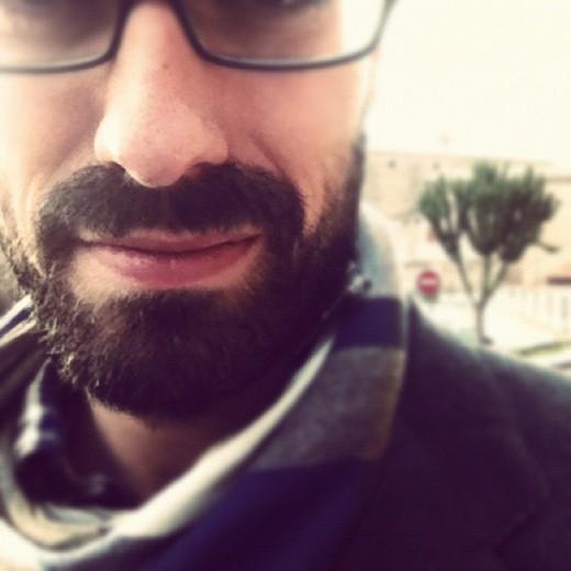 Thick beard.