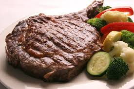 This tasty steak is served at Steve's Dakota Restaurant.