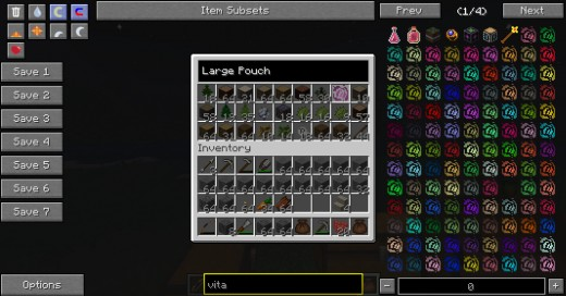 The ability to darken all items you are not looking for is very useful for finding items, even when looking in mod-added inventory systems.
