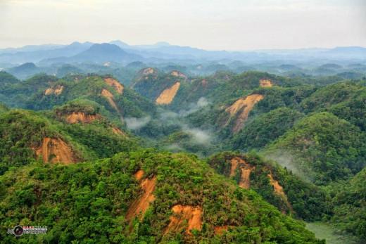 Landslides Carving the Hill Sides