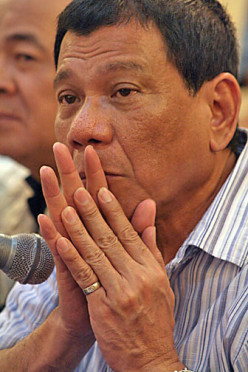 DUTERTE, the working MAYOR of DAVAO CITY
