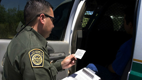 Checking drivers license is only one task of the Border Patrol Agents.