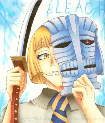 shinji wearing his hollow mask
