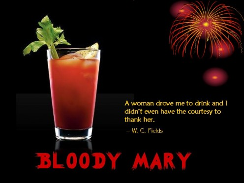 The barman of Harry's New York Bar in Paris named the Bloody Mary after the glamorous Hollywood actress Mary Pickford.