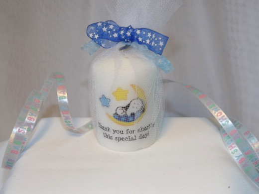 Baby Snoopy Votive Candle Favor