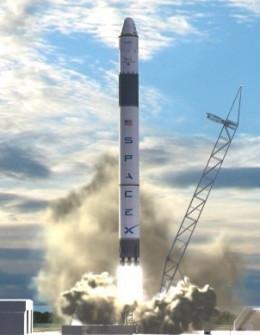 Space-X Falcon 9 liftoff