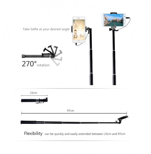 Aluminium Alloy material… 270° rotatable phone holder…