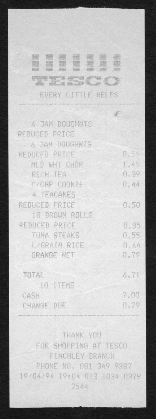 Grocery receipts can earn you cash!