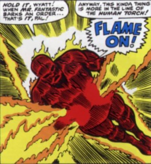 Johnny Storm, the Human Torch from the Fantastic Four