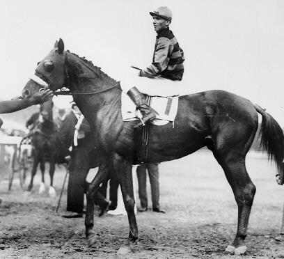 Sir Barton, the first Triple Crown winner in 1919.