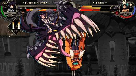 This is what button mashing gets you in Skullgirls...and just so we're clear, that monster is coming from the girl's head.