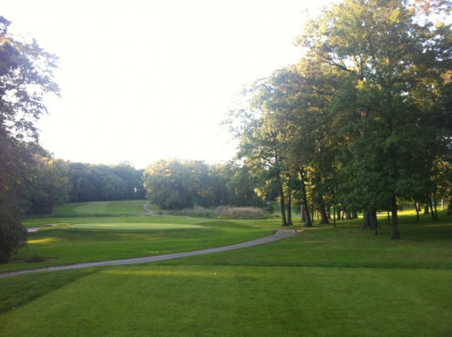 A view of the one of the fairways at the Pelham Split Rock Golf Course in the Northeast Bronx.