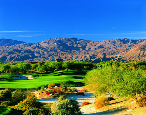 Desert courses like this one near Palm Springs will have to adapt to a changing environment. The days of blindly sucking up water reserves are over.