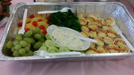 Fruit and Veggie appetizer tray