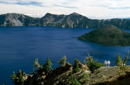There are remarkable places. (Crater Lake, Oregon)
