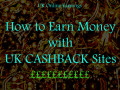 UK Online Earning With Cashback Sites