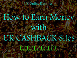 Earn Money from Cashback Sites