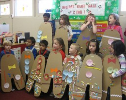 Projects like these gingerbread kid costumes cost money and take a lot of preparation.