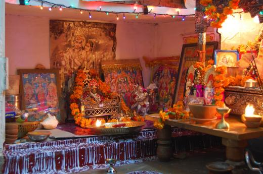 Pooja room in Diwali Festival