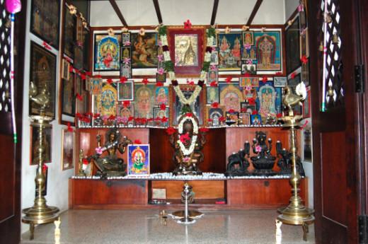 Wooden Pooja Room