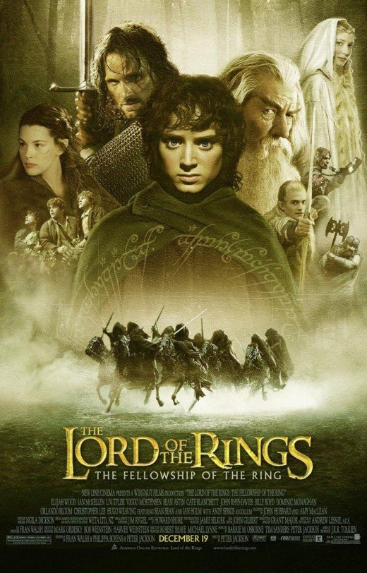 "Poster for ""The Lord Of The Rings: The Fellowship Of The Ring"""
