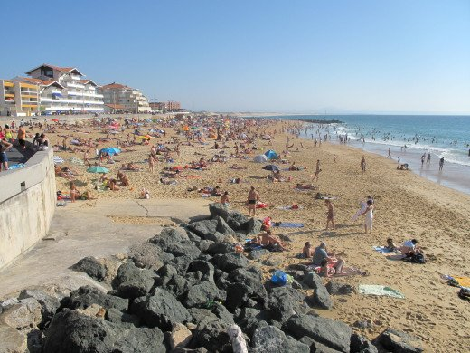 Central beach of Capbreton