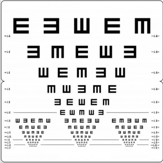 Tumbling E Eye Charts are easier to use with children and in remote third-world countries